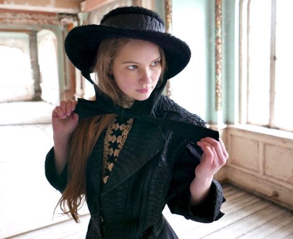 Edwardian Era Merry Widow Hat