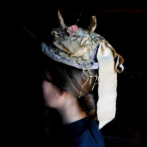 Antique Victorian Trimmed Hat - image 4