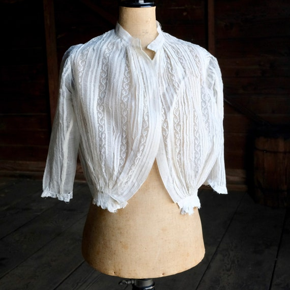 Antique Child's White Lace Blouse - image 1