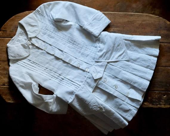 Edwardian White Corded Cotton Dress