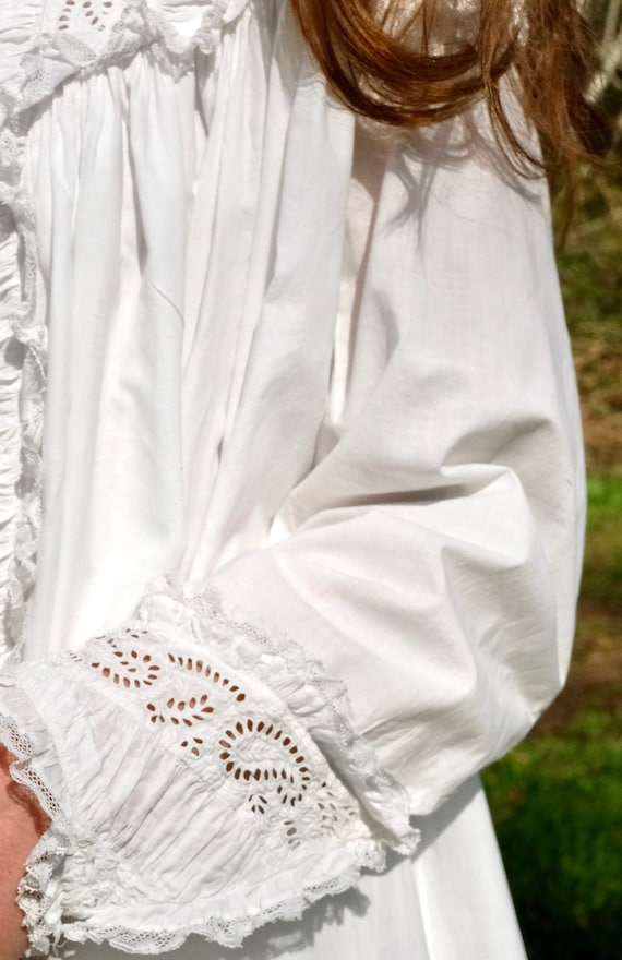 Antique 1880s Victorian Dressing Gown Nightdress … - image 8