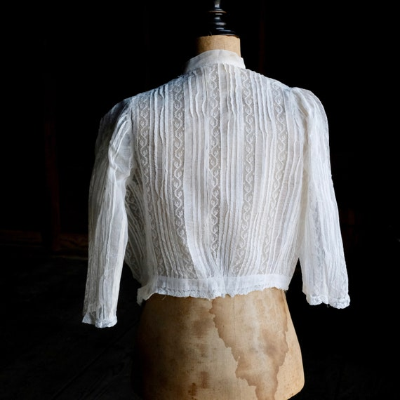 Antique Child's White Lace Blouse - image 4