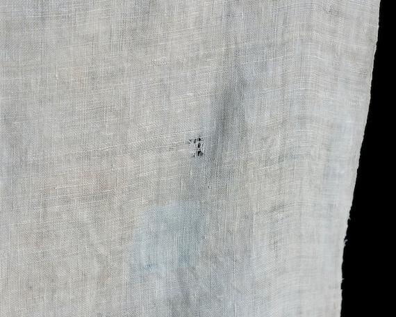 Antique Linen Rustic Homespun Textile - image 9