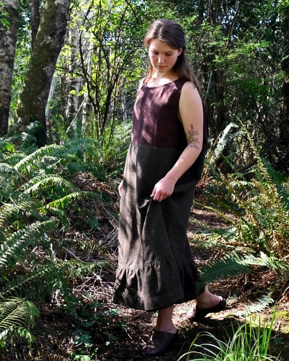 Antique Wool Petticoat Underdress M/L