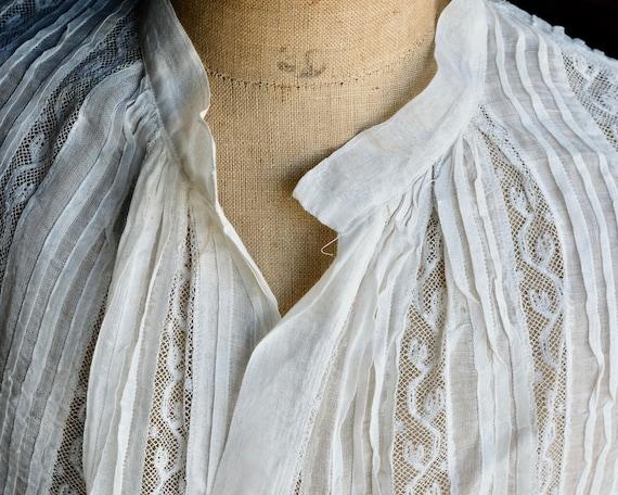Antique Child's White Lace Blouse - image 6