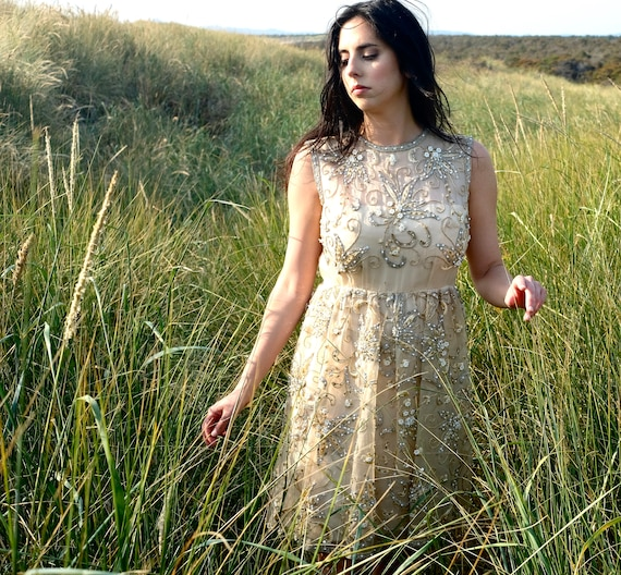 Malcolm Starr for Elinor Simmons Beaded Dress Smal