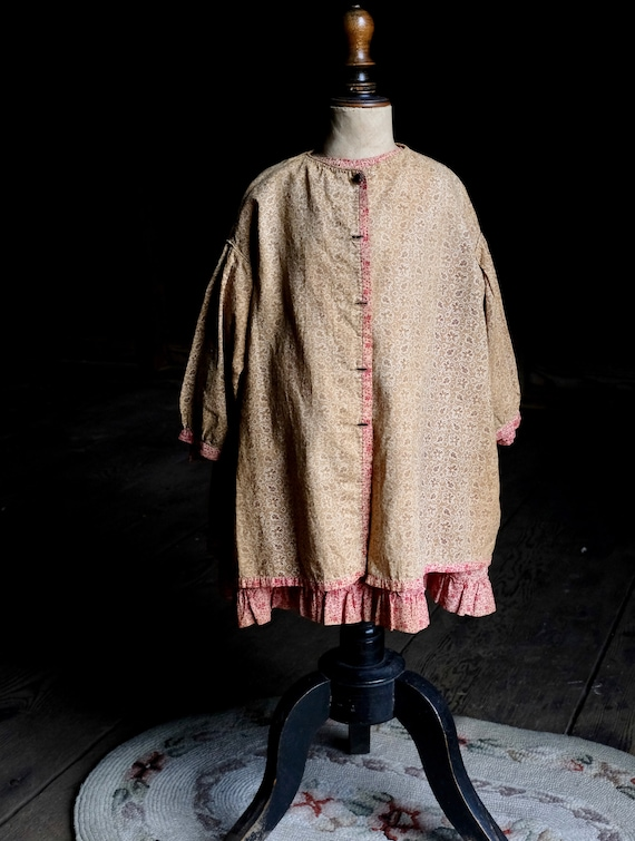 Early Calico Child's Dress With Overdress