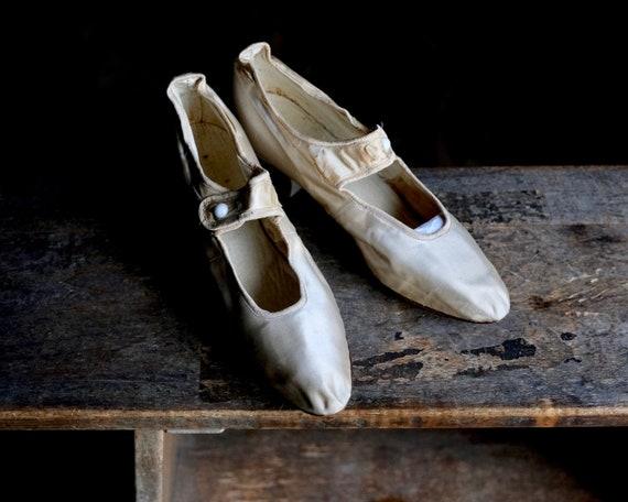 Antique Silk Wedding Shoes