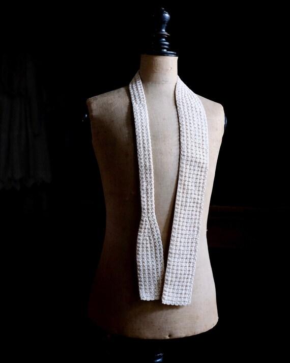 Victorian Silk Crochet Necktie