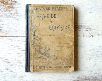Antique 1891 Children's Book Nature Readers Sea-Side and Way-Side No. 1