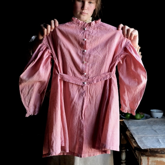 Early Pink Calico Child's Dress