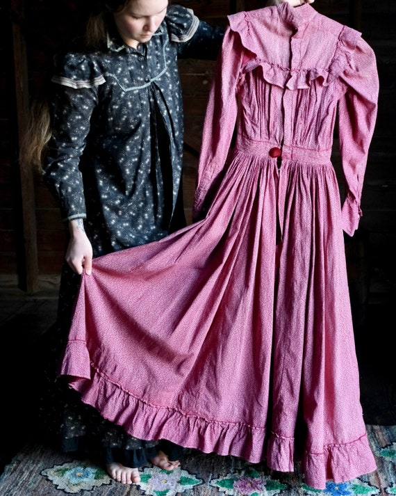 Antique Calico Dress XS/XXS