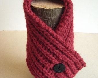 Knitting Pattern Neck Warmer Fisherman's Rib