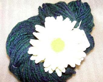 Y266  Hand Spun NE TX Wool Mohair Blend Navajo Plyed Yarn.