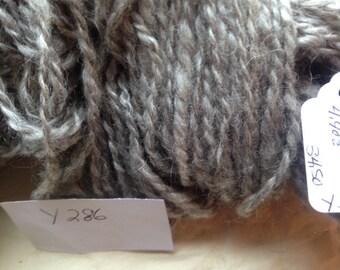 Y286 Hand Spun Medium Gray 2 P Mohair Yarn 186Y 4.9 OZ 7-8 WPI Chunky