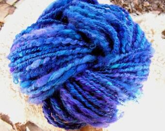 y227 Ripening Blueberries Hand  Lock Spun Bulky Art Yarn 80y 3-4 WPI