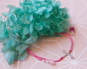 Delicate Dragonfly Bracelet. Dainty Dragonfly Charm Bracelet. Silver Plated Dragonfly. Dragonfly Bracelet. Macrame Bracelet. Dragonfly