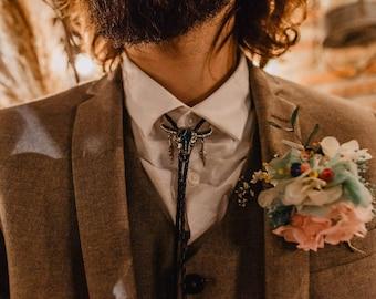 Boho Groom Buttonhole - Bohemian Groom Buttonhole - Preserved Flower Buttonhole - Rustic Groom Buttonhole - Rustic Boutonnière - Dry Flowers