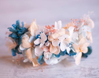 Preserved Flowers Comb - Flowers HairPin - Boho Floral Comb - Bohemian Wedding Comb - BridesMaid Preserved Flowers Comb - Delicate HairPin