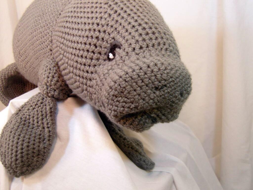 Manatee Amigurumi Stuffed Toy Plush Crochet Pattern from voxmortuum ...