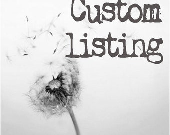 custom listing for tatynana