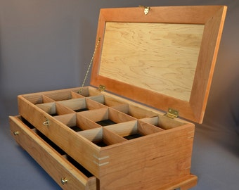 jewelry box, armoire from maple and cherry