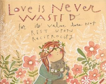 good friends by Cori Dantini, quote about love,  watercolor - kids room decor - limited edition - 8 x 10 print by cori dantini