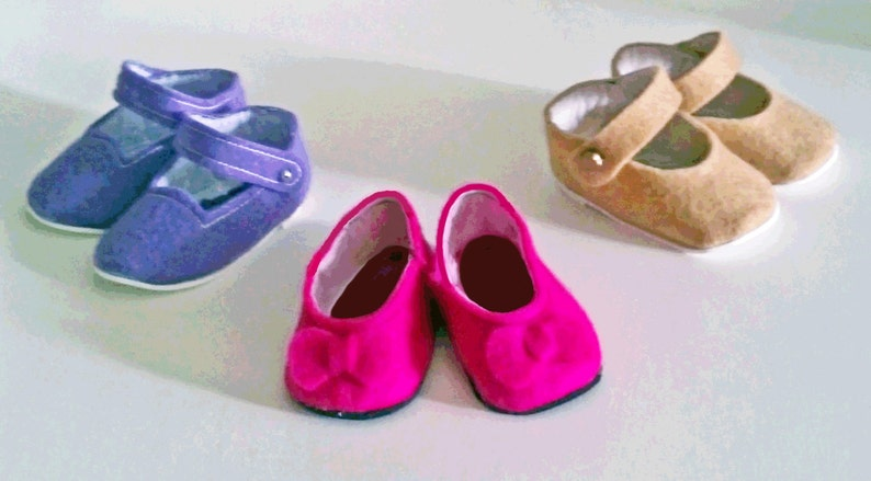 14f083becd439 Doll Shoe Pattern - Make Doll Shoes - Doll Sewing Pattern - PDF for 14