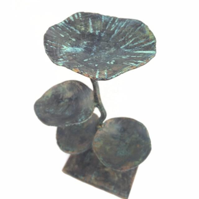 Ilusyon Triple bonbonnière bonbonnière bonbonnière oiseau bain porte bougie porte-bijoux - 10 x 6 - patine finition dc1526