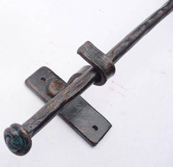Petite Curtain Rod Dry Hardware, Rustic Curtain Rod Ends