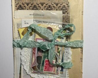 Paper ephemera kit, book pages, junk journal kit, vintage paper, junk journal, junk journal ephemera
