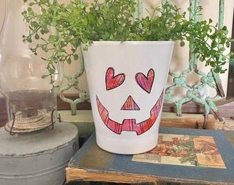 Halloween Waterslide Decal, Pumpkin Face Decal, Clear Laser Waterslide Decal, Happy Halloween, DIY Waterslide Decal