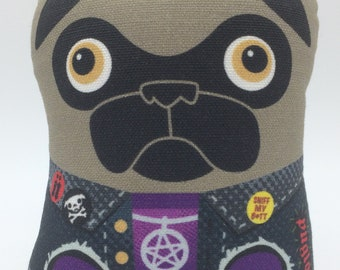Hard Rock Fan – Small Pug Plush