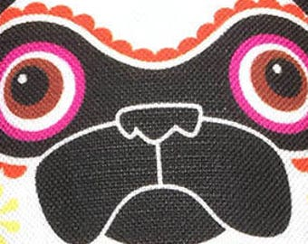 Day of The Dead Pug - Small Pug-Guise Plush