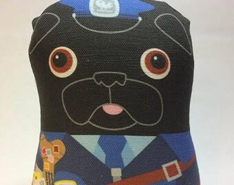 Postal Pug - Small Pug-Guise Plush