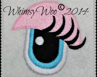 WhimsyWoo Girly Lashers Eye Embroidery File