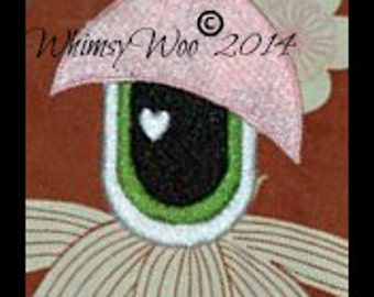 WhimsyWoo Boy Original Eye with Heart Embroidery file