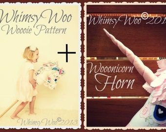 WhimsyWoo Woooie AND Wooonicorn Horn Patterns (PDF)