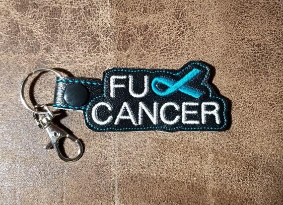 Fck Cancer Keychain Ovarian Cancer Etsy