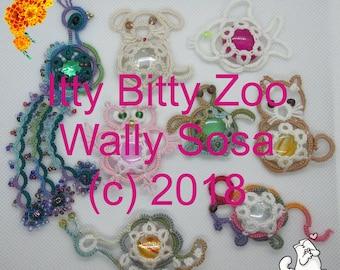Itty Bitty Zoo - Original patterns by Wally Sosa ice drops pets tatting lace book digital PDF