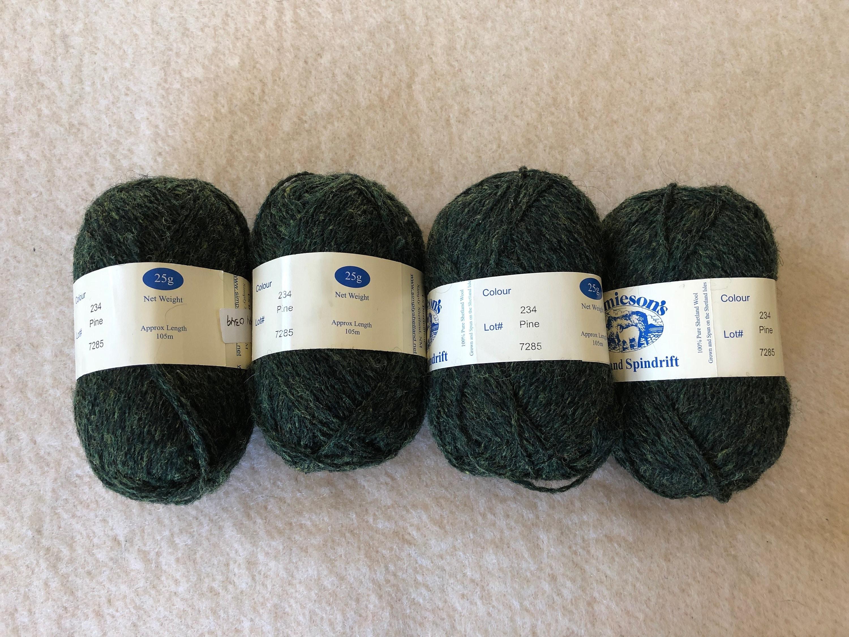 Shetland Spindrift écheveaux laine Shetland fil 4 écheveaux Spindrift pin de Jonathan - Fair Isle! 60f957