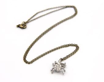 Vintage Charm Necklace - Spider