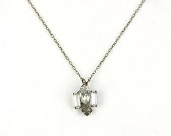 Prancer - Vintage Rhinestone Earring Necklace