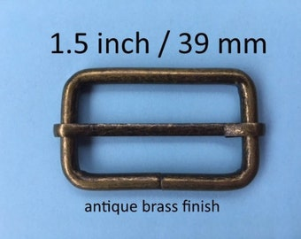 Wire-Formed Slides (1.5 inch / 39 mm) - available in antique brass and nickel finish (5 or 15 pieces)