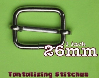 Wire-Formed Slides (1 inch / 26 mm) - available in nickel and antique brass finish (5, 15, or 30 pieces)