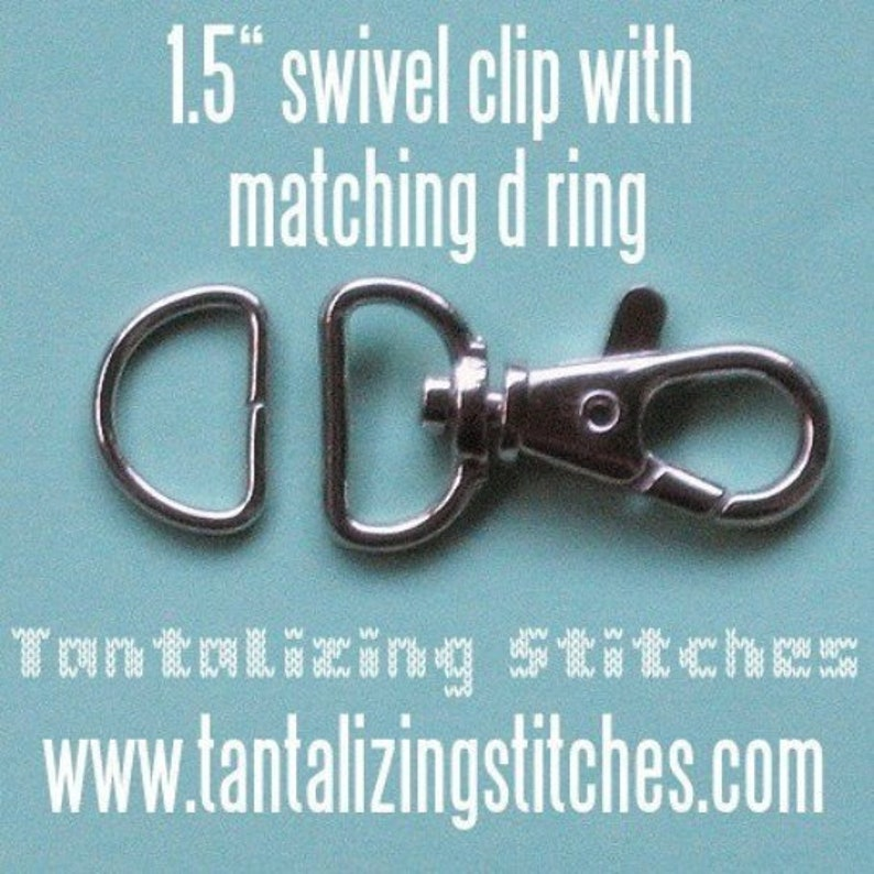 Swivel Clip with Matching D Ring 5 Sets 1.5 Inch Swivel Clips with Matching D Ring available in Nickel and Antique Brass Finish