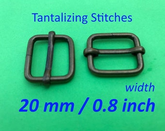 Wire-Formed Slides (0.8 inch / 20 mm) - available in antique brass and nickel finish (5, 15, or 30 pieces)