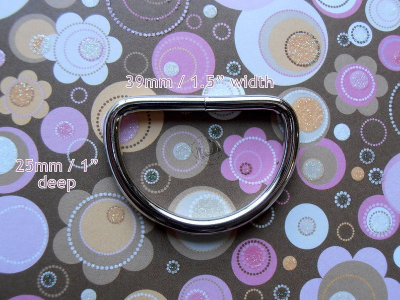 39 mm for bags and other sewing projects D Rings 100 pieces 1.5 Inch Nickel Unwelded D rings
