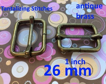 Wire-Formed Slides (1 inch / 26 mm) - available in antique brass and nickel finish (5, 15, or 30 pieces)
