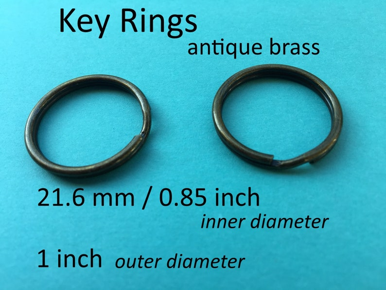 40 pieces 21.6mm split rings  key rings available in nickel, antique brass finishes